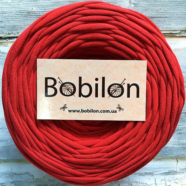 Пряжа трикотажная Bobilon Micro 3-5 мм, цвет Красный мак