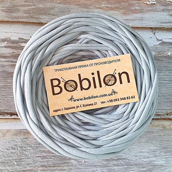 Пряжа трикотажная Bobilon Micro 3-5 мм, цвет Серебро