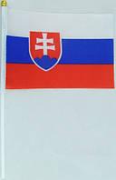 Флажок Словакии 13x20см на пластиковом флагштоке