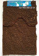 Набор ковриков в ванную комнату Лапша (Горький шоколад)