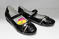 Туфли для девочки ТОМ.М Т382 чёрного цвета, лаковые