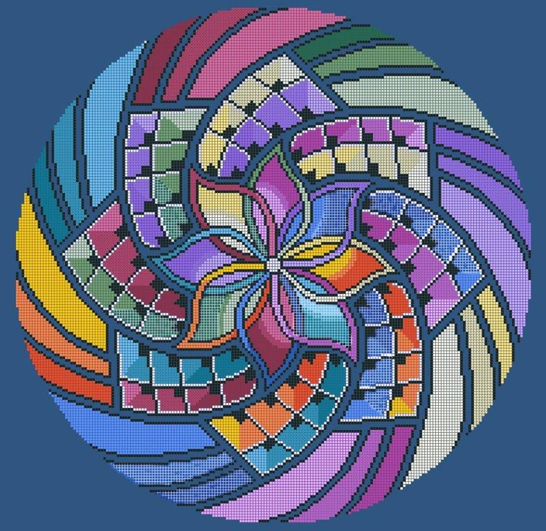 """Схема для вишивки та вишивання бісером Бисерок «Мандала """"Багатство""""» (A2) 40x60 (ЧВ-7048 (10))"""