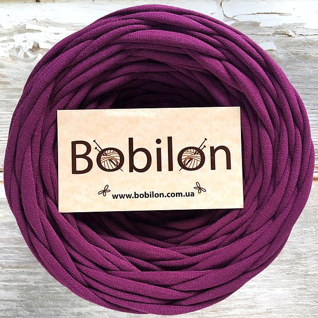 Трикотажная пряжа Bobilon Micro 3-5 мм, цвет Сливовый