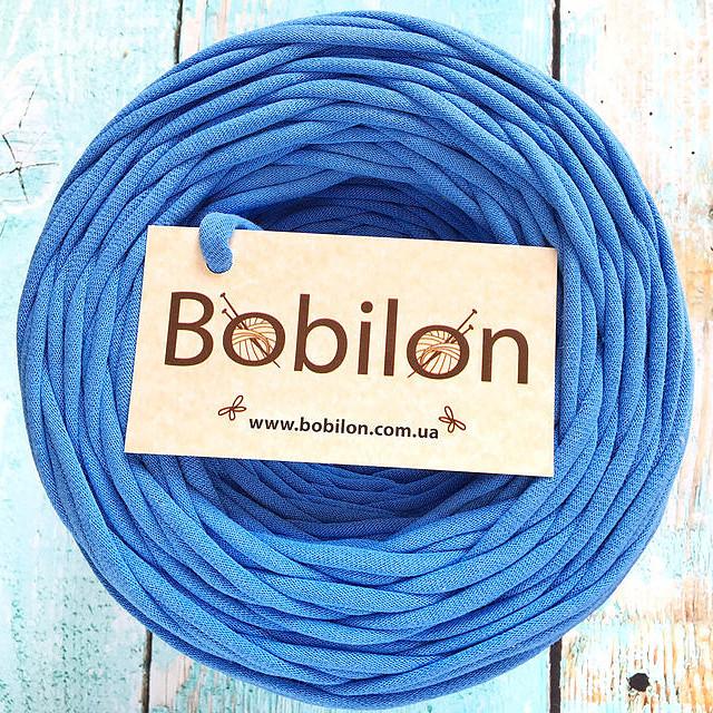 Пряжа трикотажная Bobilon Micro 3-5 мм, цвет Василек