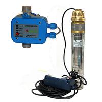 Погружной глубинный насос для скважин центробежный 4SKM-100 + автоматика PC-10