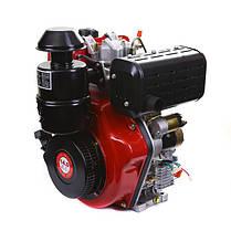 Двигатель дизельный WEIMA WM192FЕ (14 л.с., электростартер, вал 25мм, шпонка), фото 2