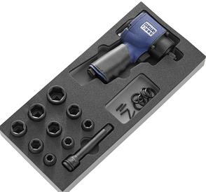 """Набор ударного инструмента - гайковерт 1/2"""" 678 N.m, головки, Expert E231101"""