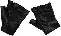 Перчатки без пальцев кожаные чёрные (M) MFH 15514