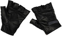 Перчатки без пальцев кожаные чёрные (XXL) MFH 15514