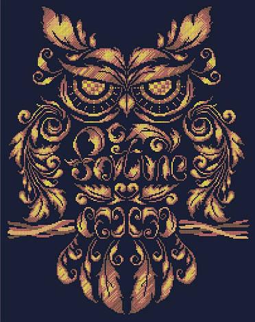 Схема для вишивки та вишивання бісером Бисерок «Сова» Золото (A2) 40x60 (ЧВ-7053 (10)) К
