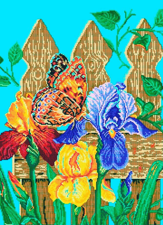 Схема для вишивки та вишивання бісером Бисерок «Метелик» (A2) 40x60 (ЧВ-7011(10))