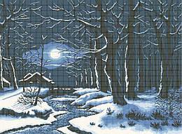 Схема для вишивки та вишивання бісером Бисерок «Зимова ніч» (В1) 70x100 (ЧВ-9001 (10))