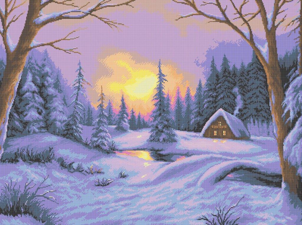 Схема для вишивки та вишивання бісером Бисерок «Чарівна зима» (В1) 70x100 (ЧВ-9003 (10))