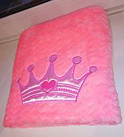 Плед одеяло для новорожденного в роддом велсофт