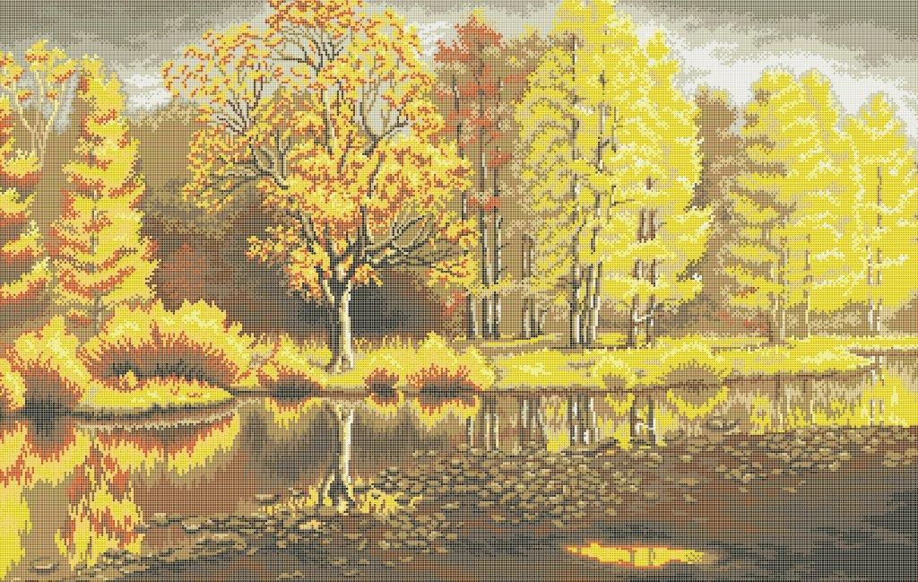 Схема для вишивки та вишивання бісером Бисерок «Яскрава осінь» (В1) 70x100 (ЧВ-9008 (10))