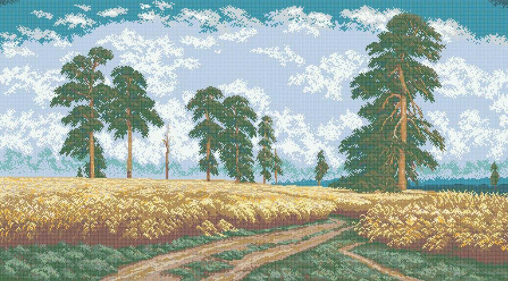 Схема для вишивки та вишивання бісером Бисерок «Пшеничне поле» (В1) 70x100 (ЧВ-9005 (10))