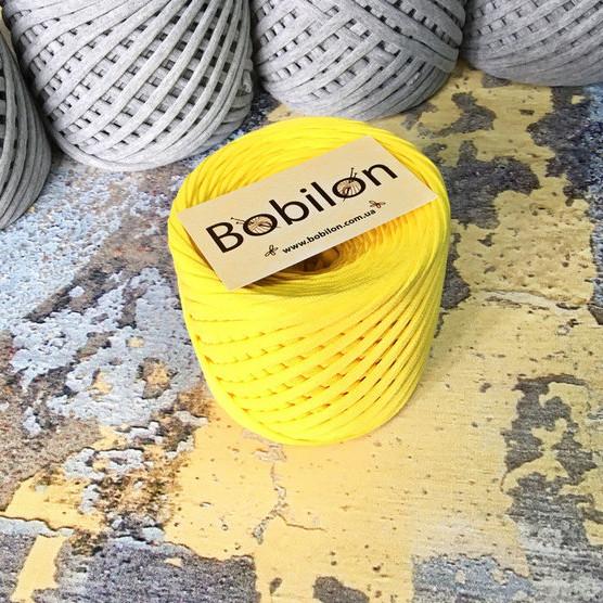 Ленточная пряжа Бобилон 7-9 мм, цвет Желтый 50 м