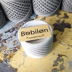 Ленточная пряжа Бобилон 7-9 мм, цвет Белый 50 м
