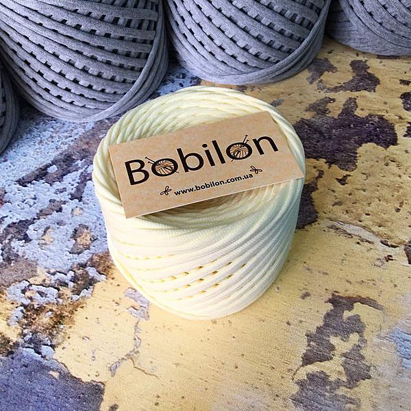 Ленточная пряжа Бобилон 7-9 мм, цвет Кремовый 50 м