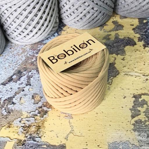 Ленточная пряжа Бобилон 7-9 мм, цвет Карамель 50 м
