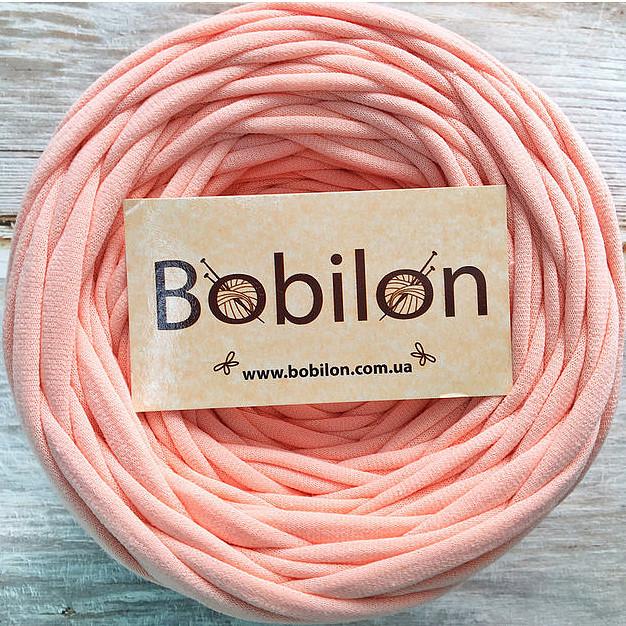 Ленточная пряжа Бобилон 7-9 мм, цвет Персик 50 м