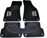Коврики в салон ворс Audi A4 В6,B7 (2000-2008) /Чёрные, кт 5шт