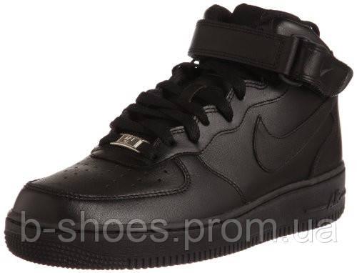 Мужские кроссовки Найк Air Force 1 Low (Black)