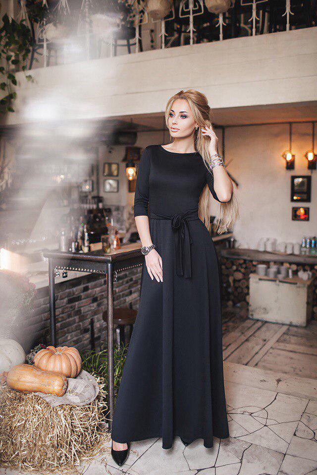 14937dce3de Стильное женское длинное платье макси трикотажное  продажа