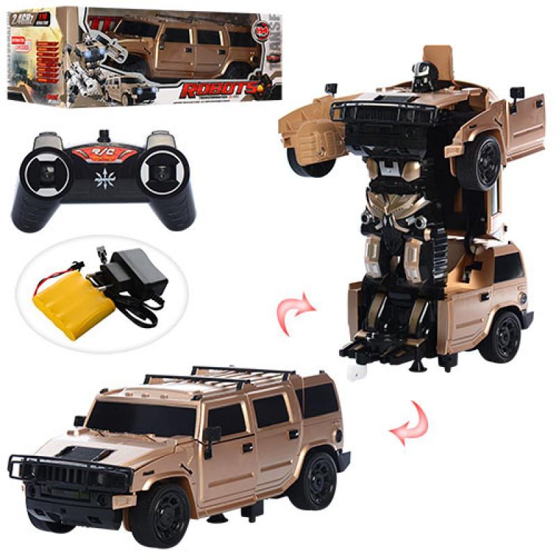 ТрансформерДжипбльшой 30 см на радиоуправлении,аккумулятор, робот+машинка, музыка, свет, резиновые колеса,4