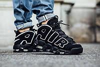 Женские кроссовки Supreme x Nike Air Uptempo black