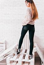 """Теплые женские леггинсы на флисе """"Dires"""" со стегаными вставками, фото 3"""