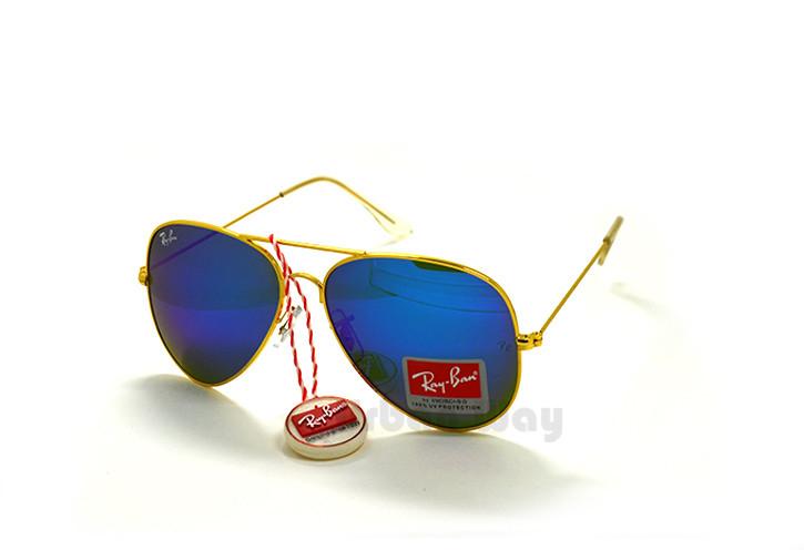 be237cdcaf72 Мужские солнцезащитные очки Ray Ban, стеклянные линзы зеркальные в  металлической оправе - Интернет - магазин