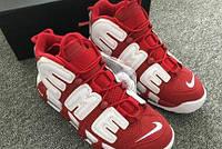 Женские кроссовки Supreme x Nike Air Uptempo red