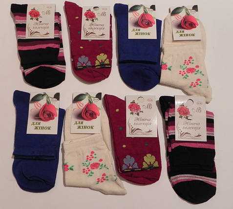 Носки женские стрейчевые с рисунком ТМ Прилуки, фото 2
