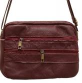 Кожаные сумки и барсетки (бордо)24*17см