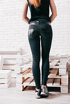 """Женские джинсовые леггинсы """"Julissa"""" с кожаными вставками, фото 3"""
