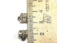 "Бейл, Держатель для кулона, "" Бант "", Античное серебро, 7 mm x 10 mm"