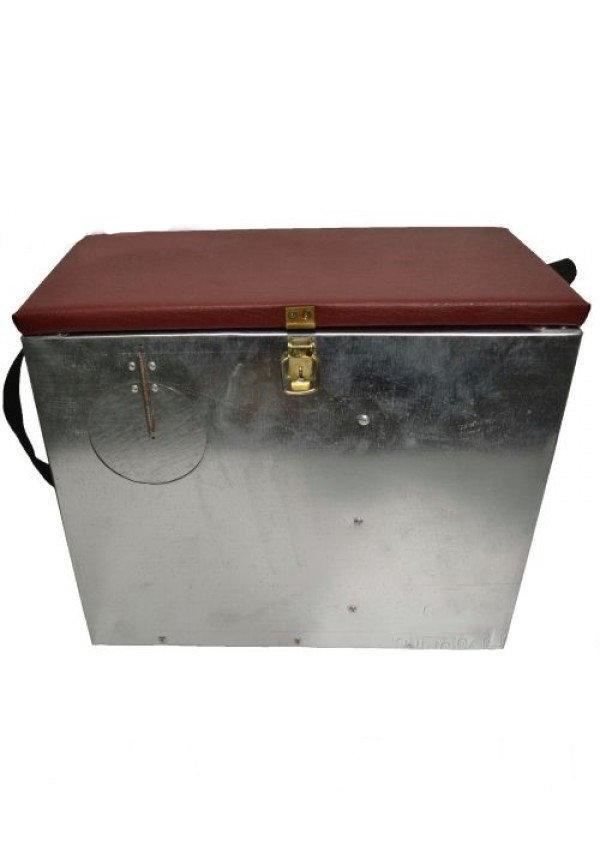 Ящик для зимней рыбалки оцинкованный с окошком