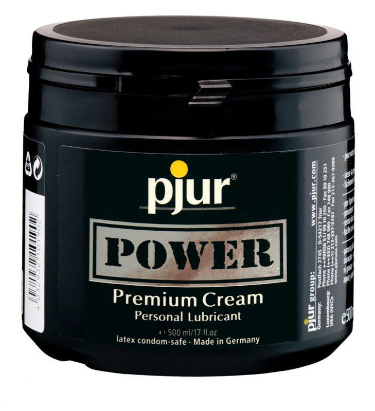 Густая смазка для фистинга pjur POWER Premium Cream 500 мл на гибридной основе
