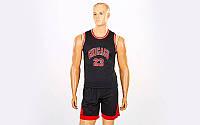 Форма баскетбольная подростковая NBA Bulls 5351-3 (баскетбольная форма): размер M-XL, фото 1
