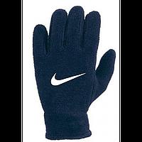 Зимние перчатки флис Найк синие