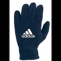Зимние перчатки флис Адидас синие