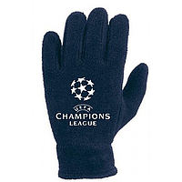 Зимние перчатки флис Лига Чемпионов синие