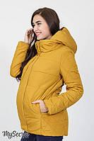 Демисезонная стеганная куртка для беременных EMMA, горчица (последний размер 48), фото 1