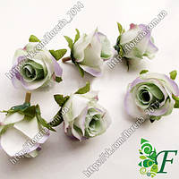 Головка розы Кордес винтаж зеленая за 12 шт