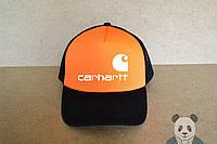 Кепка, бейсболка Carhartt (черно-оранжевый), Реплика, фото 1