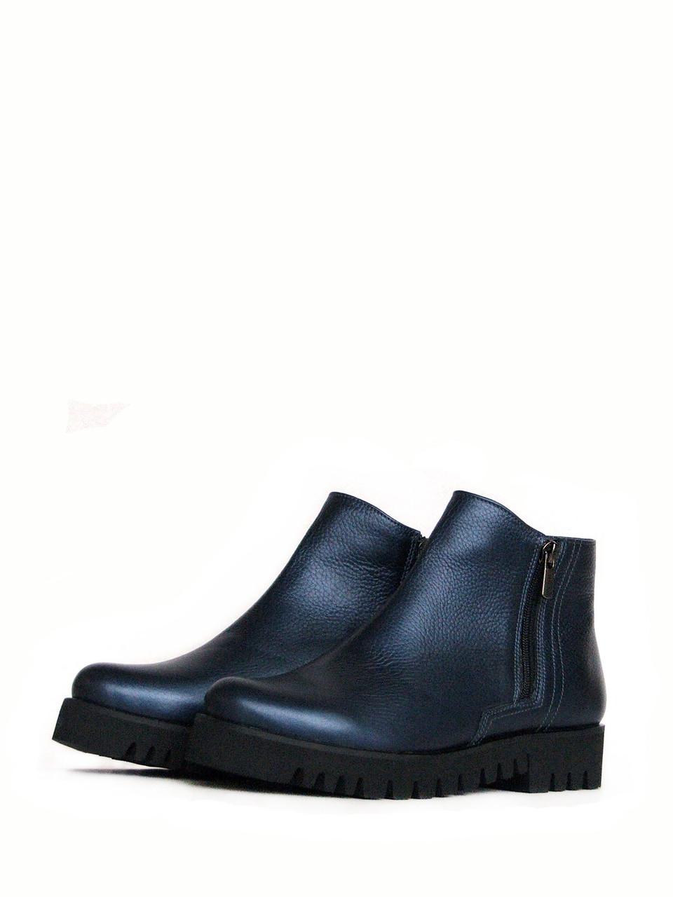 Ботинки синие зимние