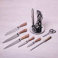 Набор кухонных ножей Kamille 7 предметов на акриловой подставке (с точилкой и ножницами)