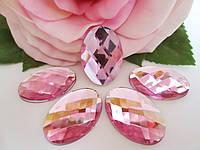 Камень клеевой, 18х25 мм, цвет светло-розовый