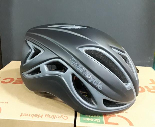 Велошлем Green Cycle JET L 58-61 см HEL-26-24 шоссе / триатлон черный / серый